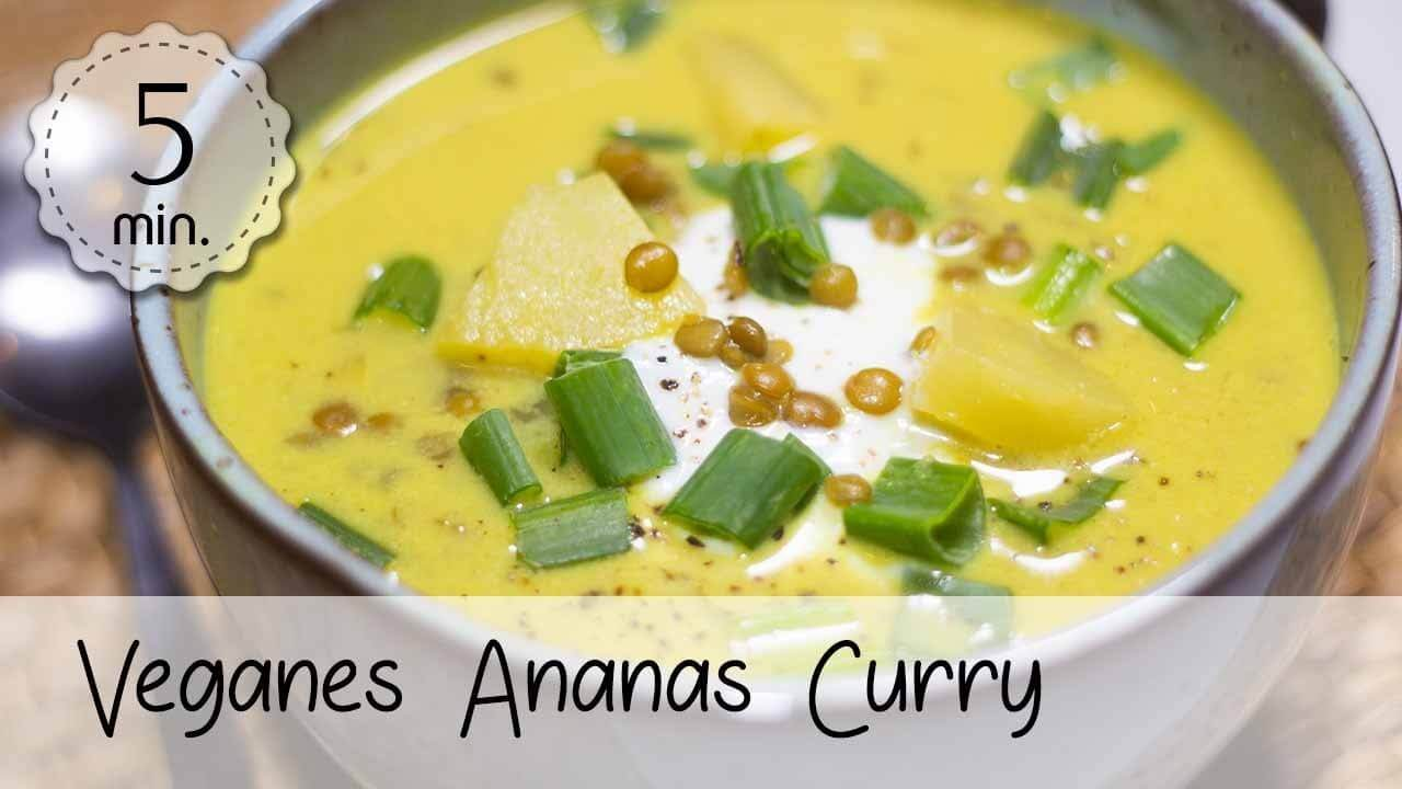 Veganes Ananas-Curry Rezept von 5 Minute Recipes